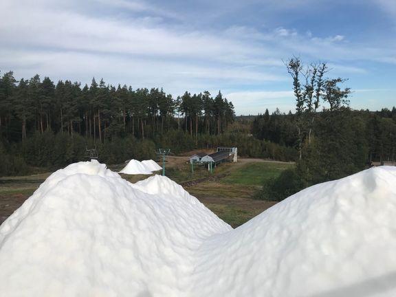 Allerede sne i det sydlige Sverige